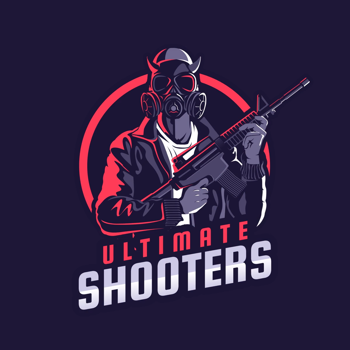Battle Royale Logo Maker Featuring a PUBG Inspired Character