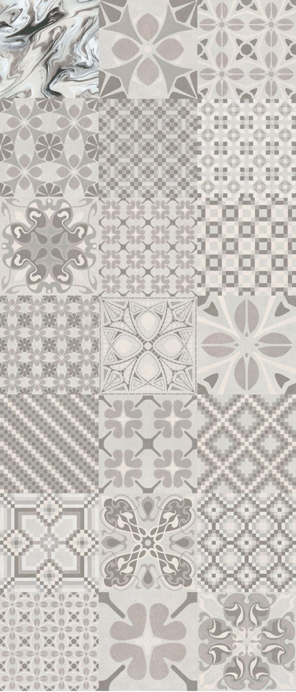 Carrelage Imitation Anciens Carreaux De Ciment Decor Gris 20x20 Cm