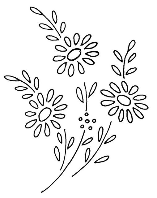 Flowers 38 Embroidery Patterns Pinterest Flowers Embroidery