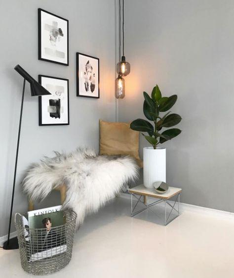 Det perfekte grå-hvide hjem med plads til liv og leg
