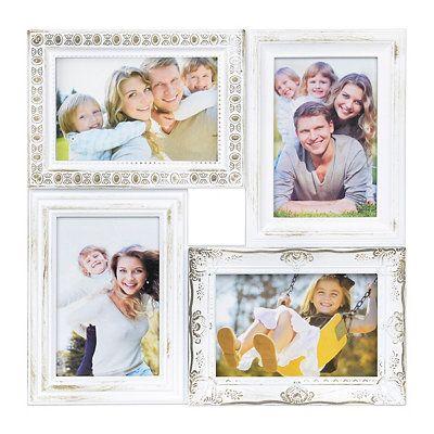 Vintage White 4-Opening Collage Frame