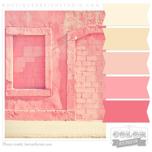Warm pink color palette, ready for painting!