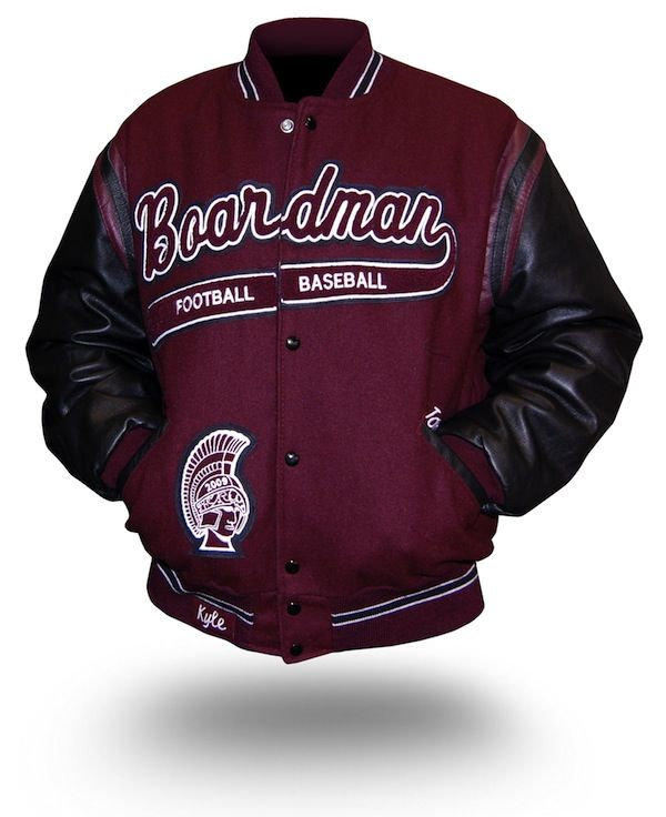 A split-front custom letterman jacket we made for one of our ...
