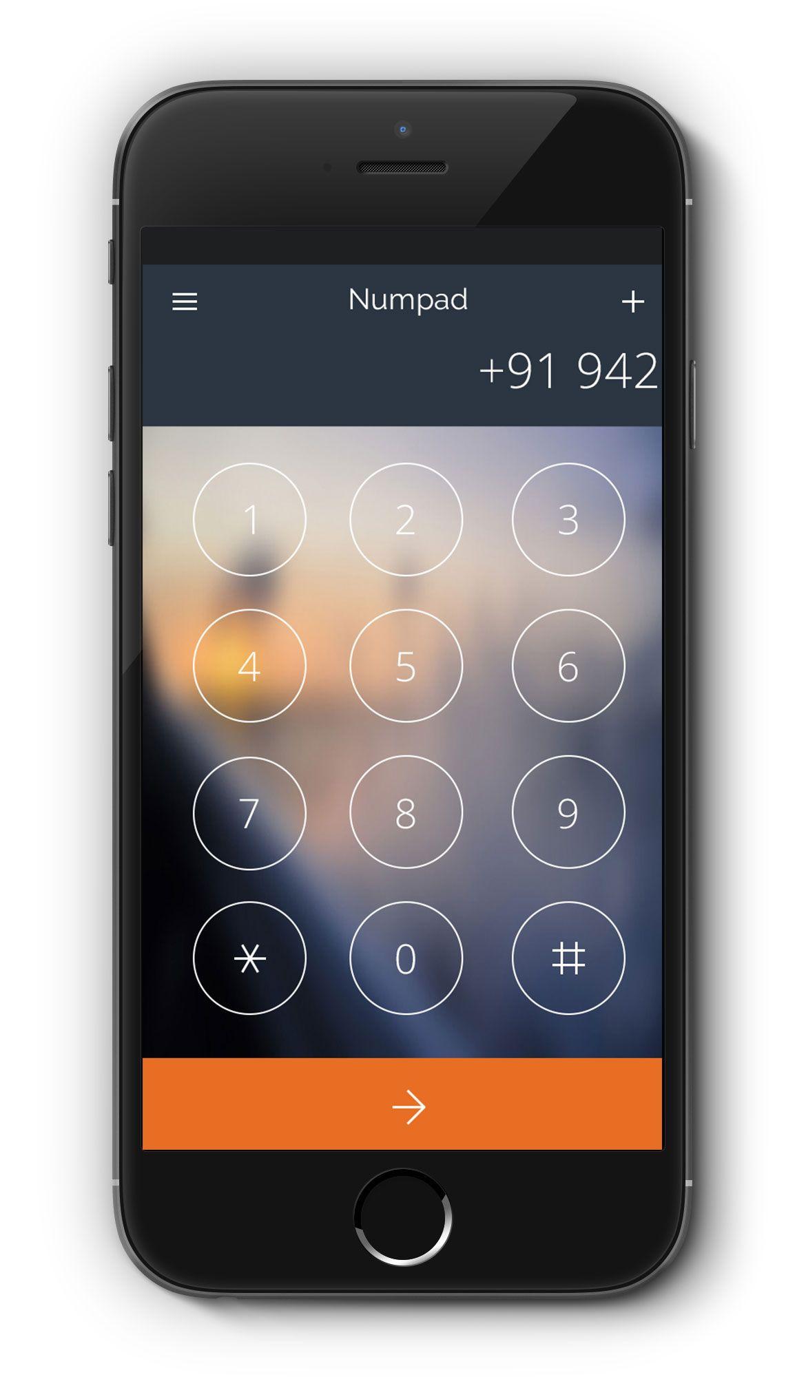 NumPad App Screen PSD App, Iphone apps, Screen