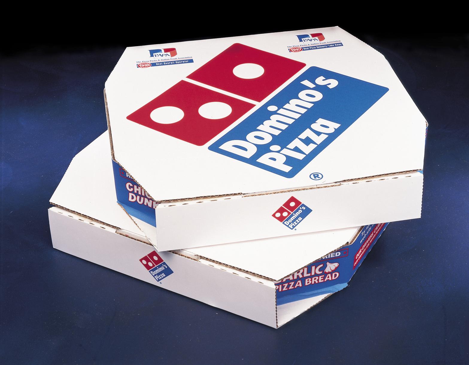 Domino S New U K Pizza Boxes Pizza Box Design Dominos Pizza Domino S Pizza