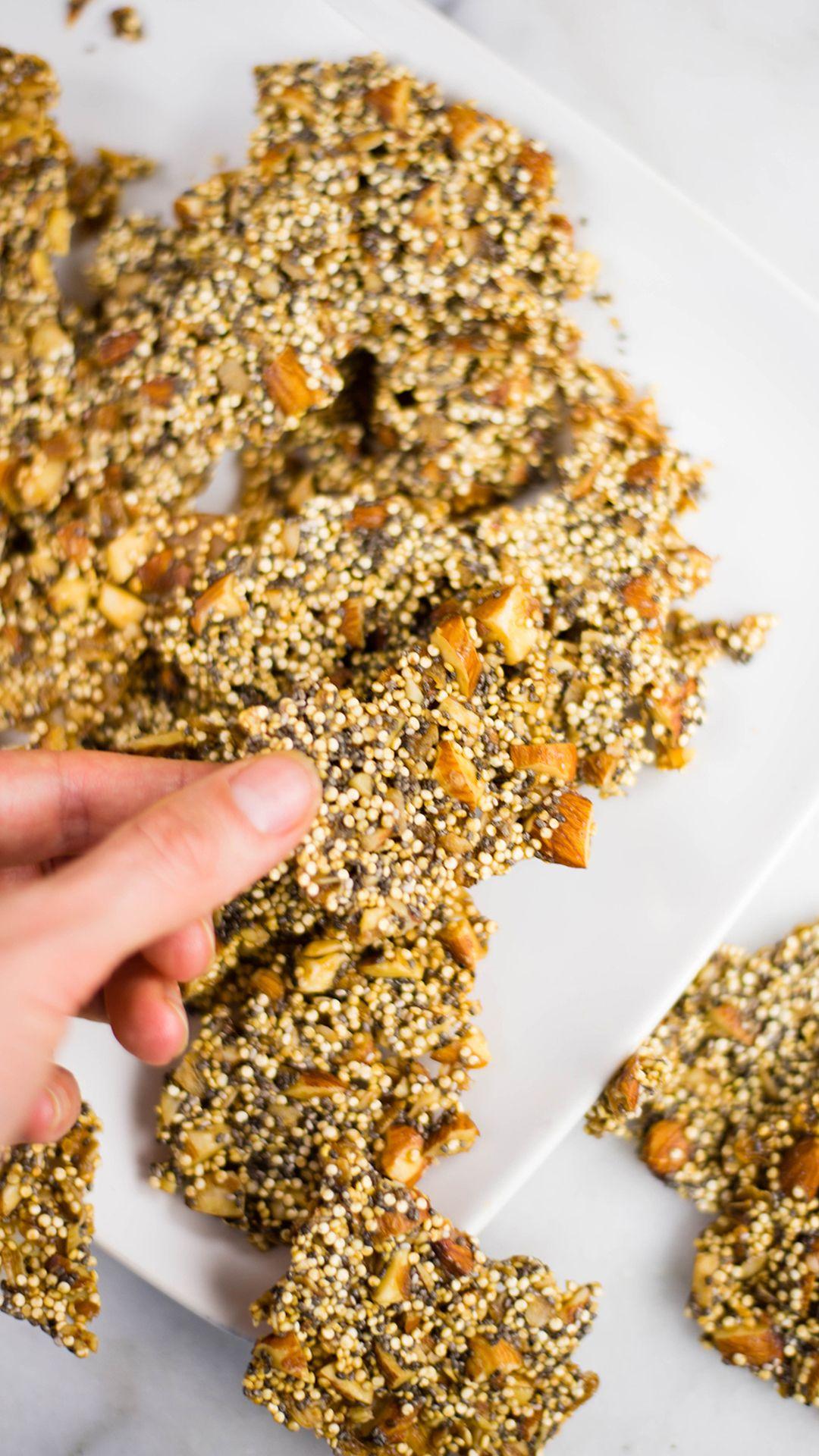 Quinoa Almond Brittle