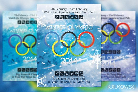 Check Out Winter Olympic Flyer By MkrukowskiEu On Creative Market