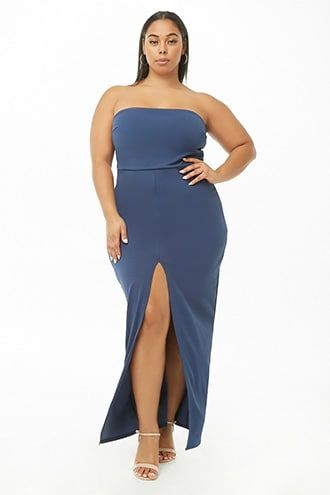 Plus Size Strapless Maxi Dress in 2019 | Products | Strapless dress ...