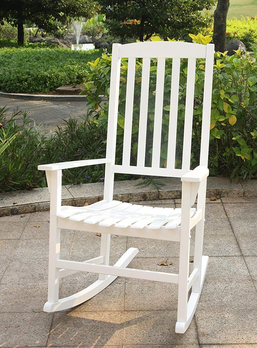 Swell Bentley Porch Rocker White Outdoor Rocking Chair Porch Creativecarmelina Interior Chair Design Creativecarmelinacom