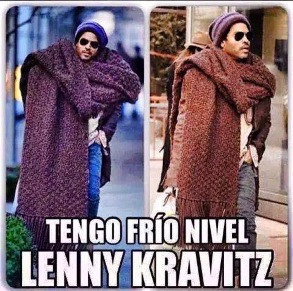 I M Lenny Kravitz Level Cold Lenny Kravitz Frio Memes De Frio