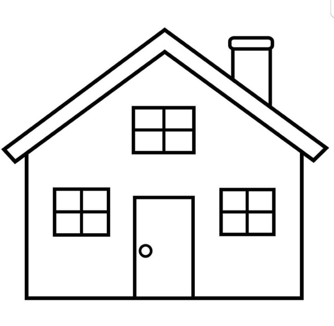 Pin By Gert On Aile House Colouring Pages Simple House Drawing House Drawing For Kids