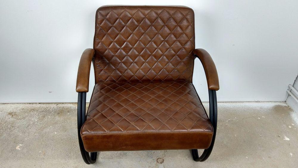 Retro Lounge Chair leder Sessel 20er Jahre VINTAGE Clubsessel ...