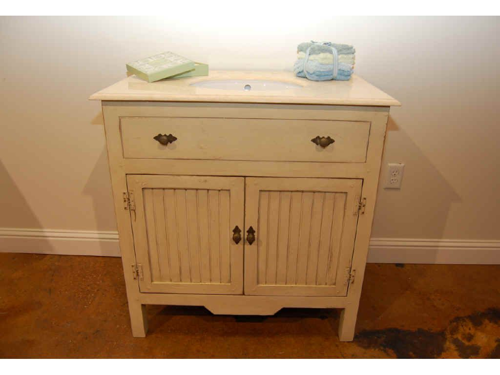 French Country Bathroom Vanities: Antique French Country Bathroom Vanity
