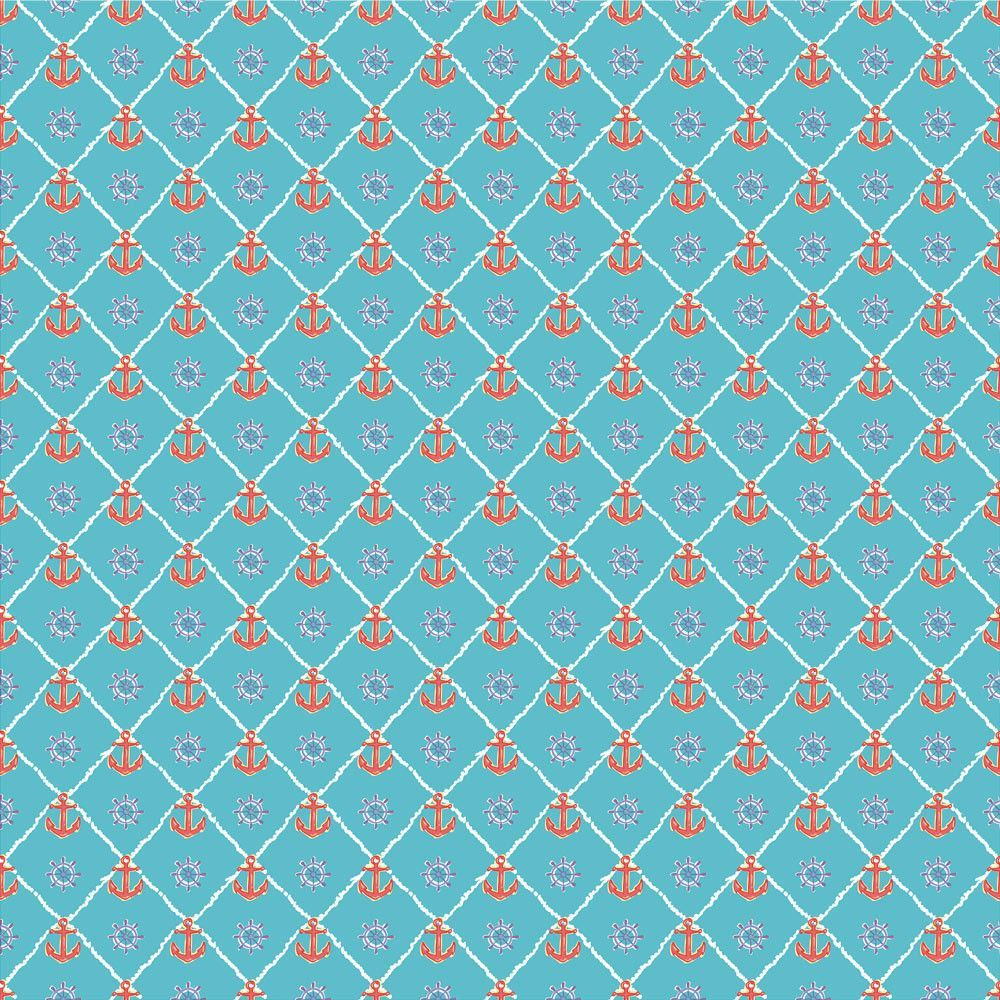 "Oracal 651 Patterned Vinyl - ""Anchors Light Blue"""