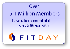 fitday is a great website to track your food intake exercise