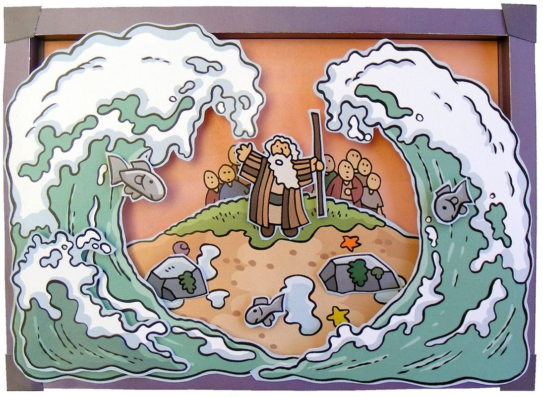 Moses red sea 3d Picture | sunday school | Pinterest | Escuela ...