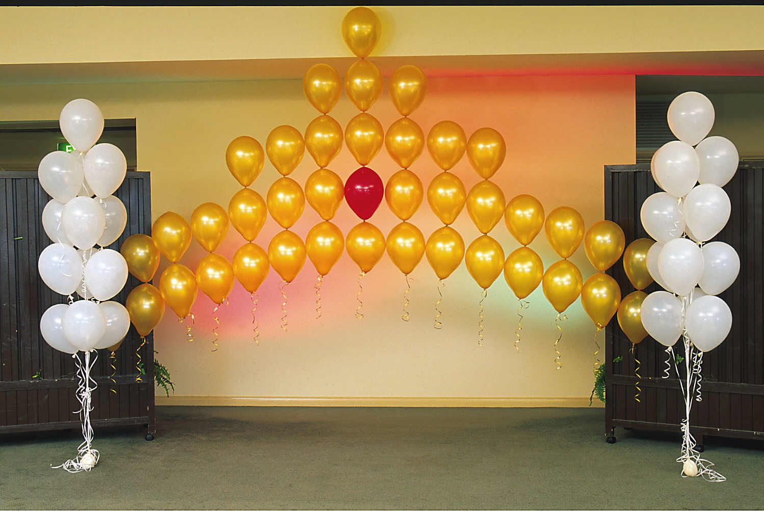 Crown balloon arch room props pinterest