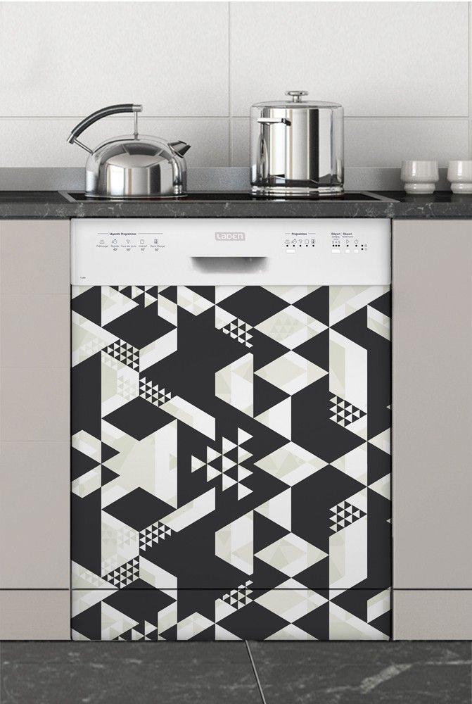 Geo Sticker Special Lave Vaisselle Idee Decoration Cuisine Meuble Lave Vaisselle Customiser Lave Vaisselle