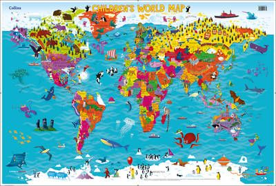 Collins childrens world map sheet map rolled maps pinterest fishpond new zealand collins childrens world map new edition by steve evans illustrated collins maps buy books online collins childrens world map gumiabroncs Choice Image