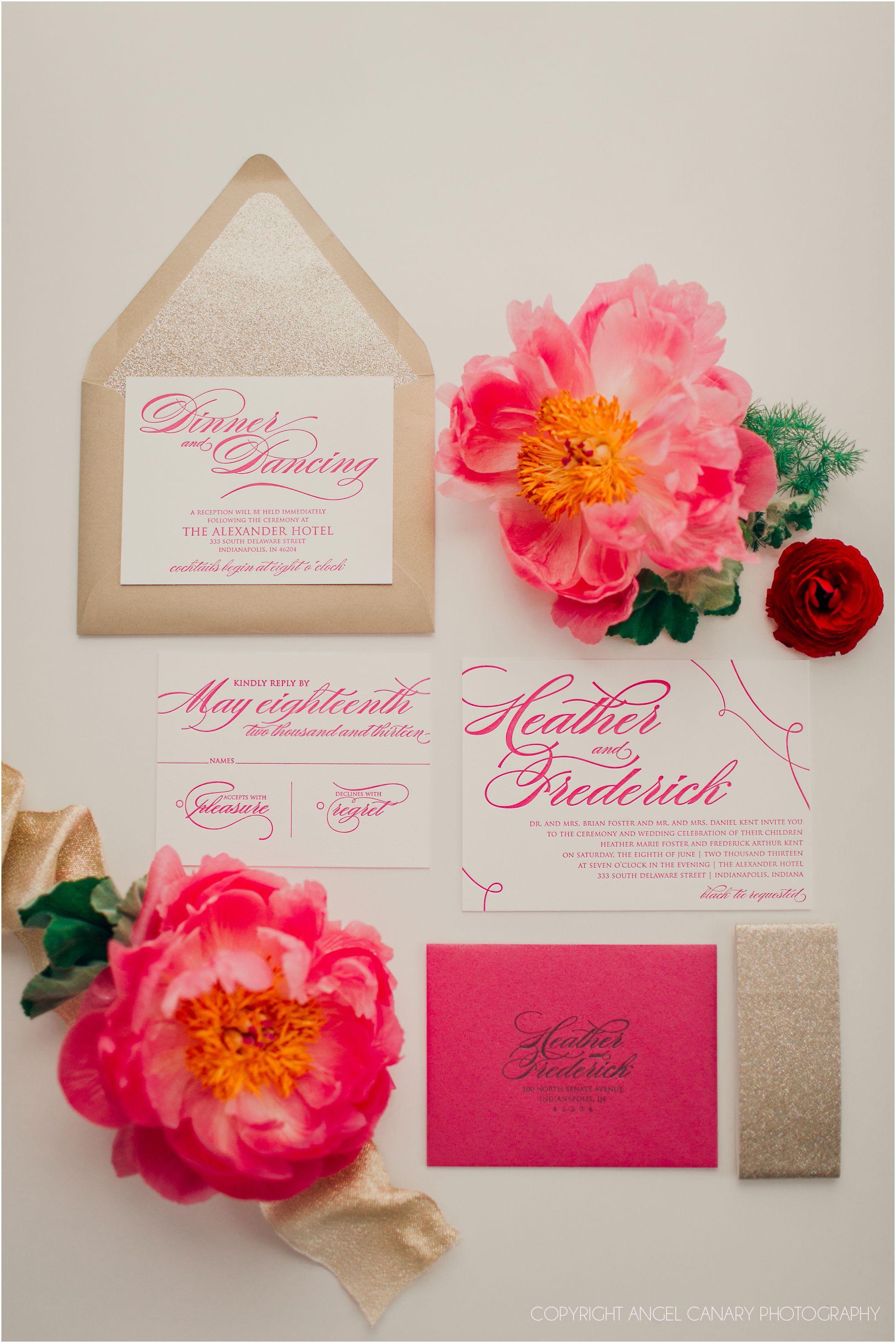 wedding #invitations #press #peonies Jupiter and Juno http://www ...
