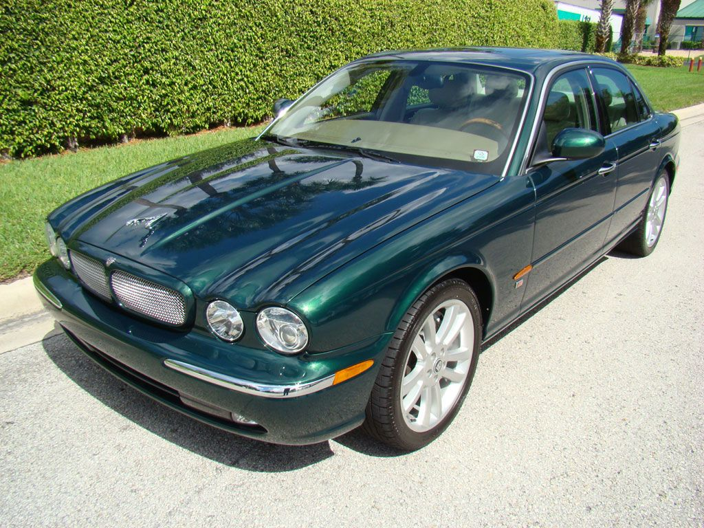 medium resolution of 2004 jaguar xjr jaguar racing green over sand leather