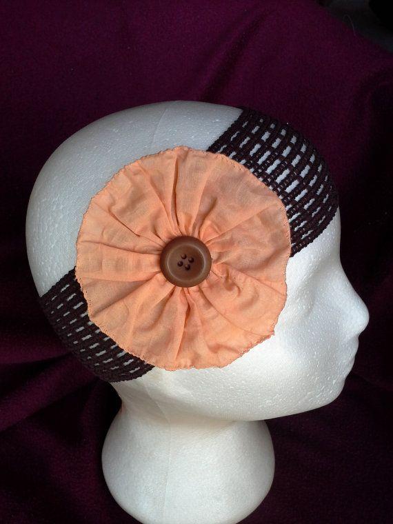 Cottage style Button Rosette headband $4.00