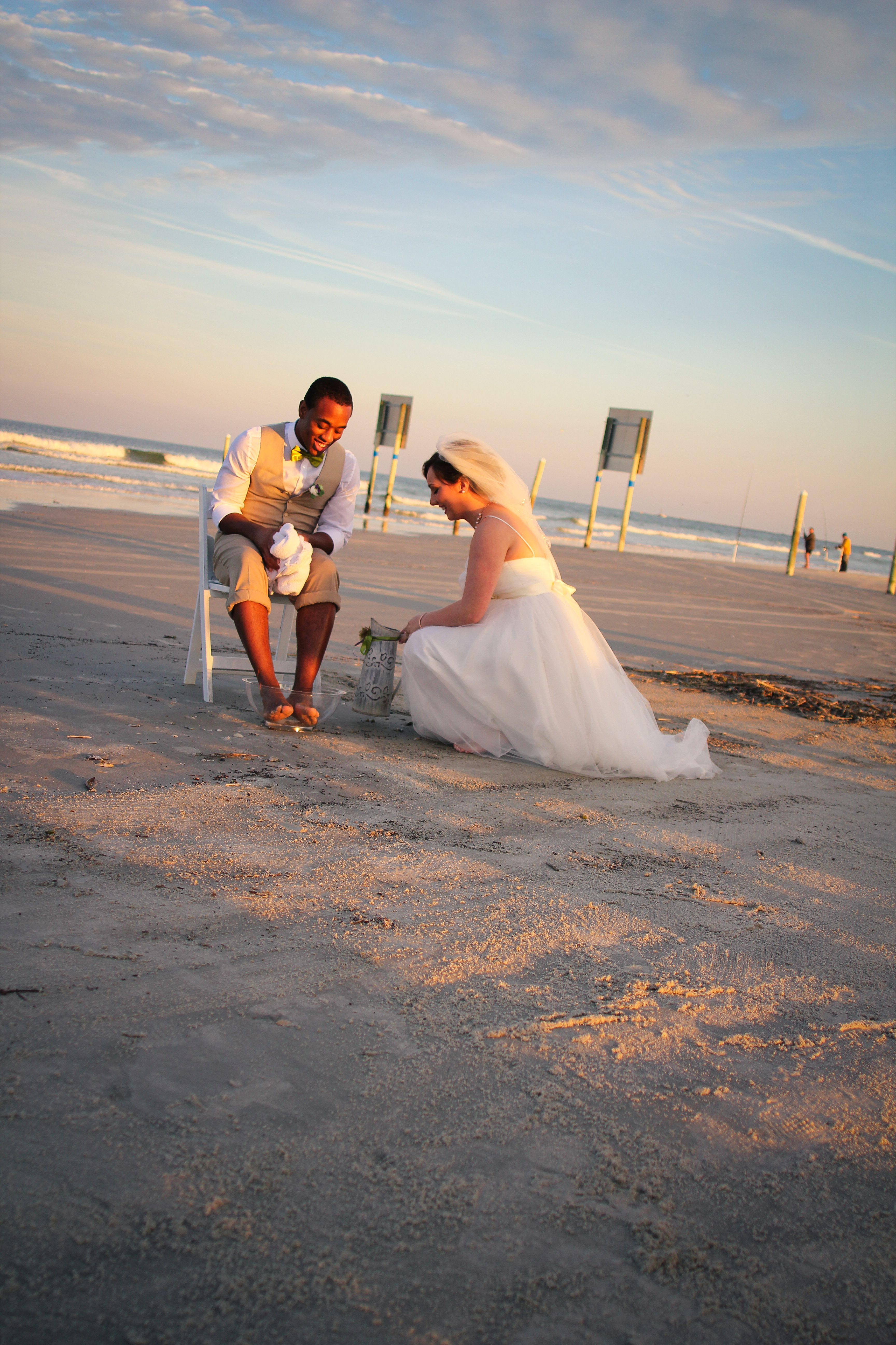 Wedding Ceremony First Act As Husband And Wife Beach Washing Feet Foot Biblical