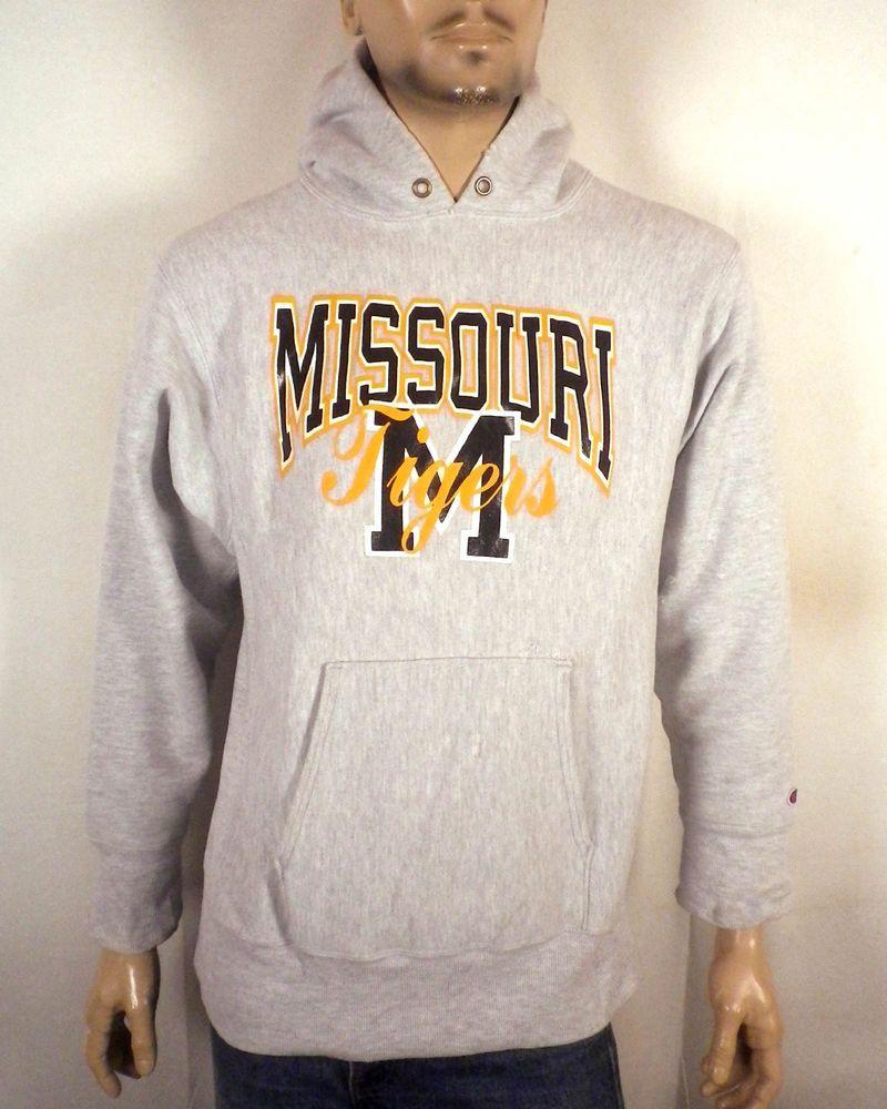 vtg 80s Champion Reverse Weave Missouri Tigers Mizzou Sweatshirt Hoodie sz L fb245ff96