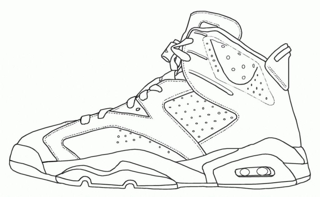 jordan shoe coloring pages # 6