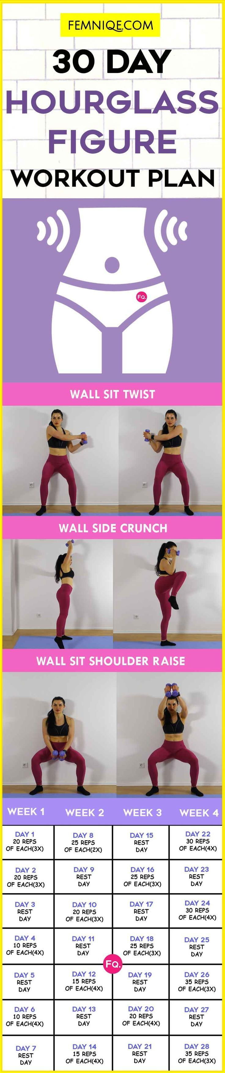 30 Day Hourglass Figure Anti Aging Workout Plan