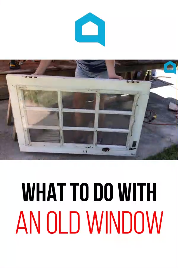 Wondering what to do with an old window? Turn it into a home decor project. Perfect if you have a window without glass, this rustic farmhouse window is perfect for hanging with pictures for living room or bedroom decor. #hometalk #diy #window #repurpose