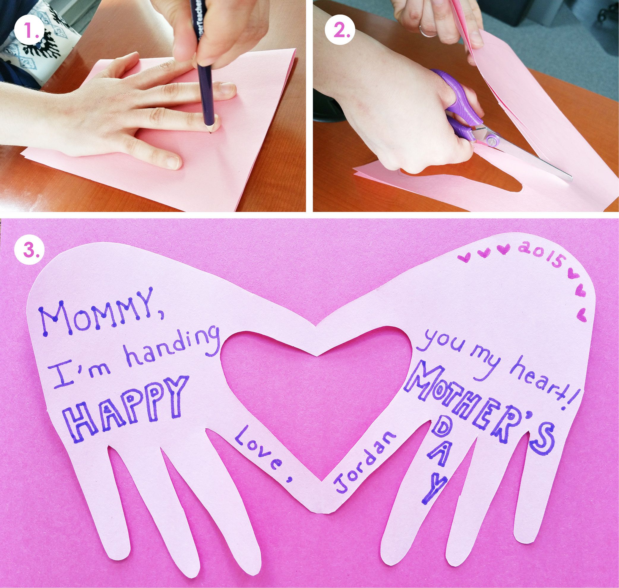 A Cute And Simple Mother S Day Craft For Young Children Trace