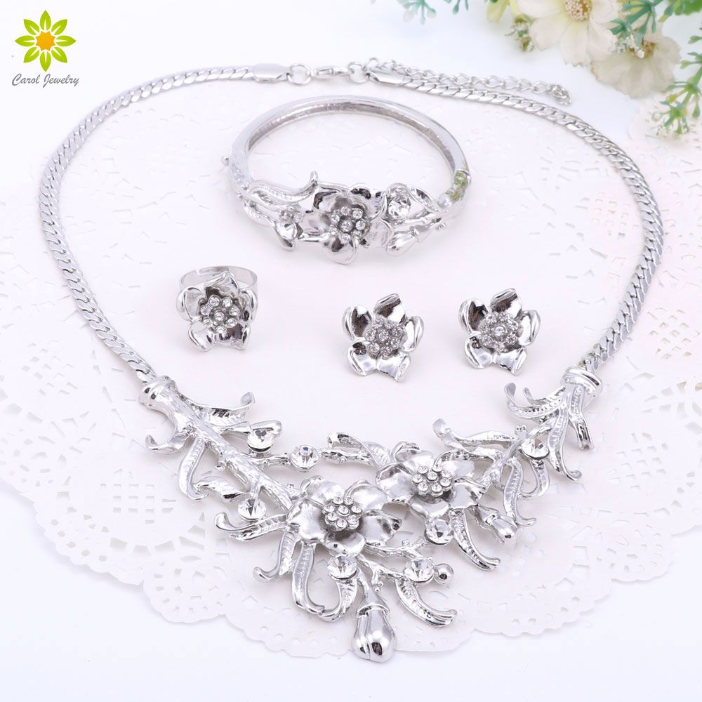 jewelry hot women necklace fashion sets product bridal gemstone imitation plated sale female womens wedding store blue gold jewellery
