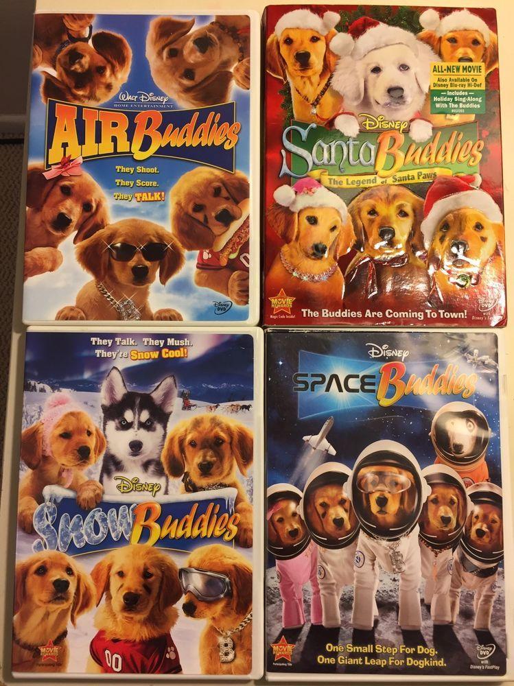 Disney Buddies Movie Lot 4 Dvds Air Snow Santa Space Golden
