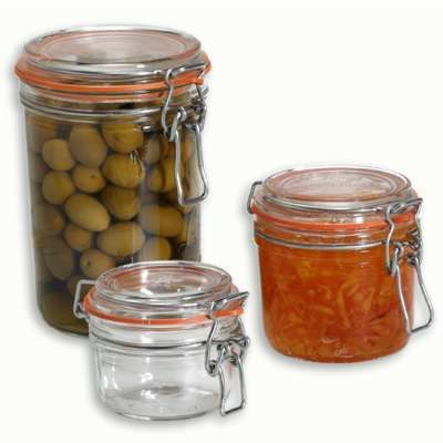 French Hermetic Glass Terrines Largest Is 1 Lit 9 99 At The Container Store Very Good Quality They Also Sell Seals Sepe Glass Storage Jars Canning Jars Jar
