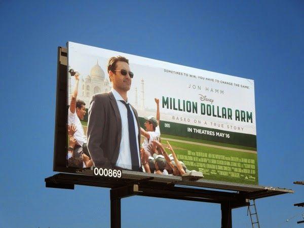 715308e8cfa3 Disney Million Dollar Arm movie billboard