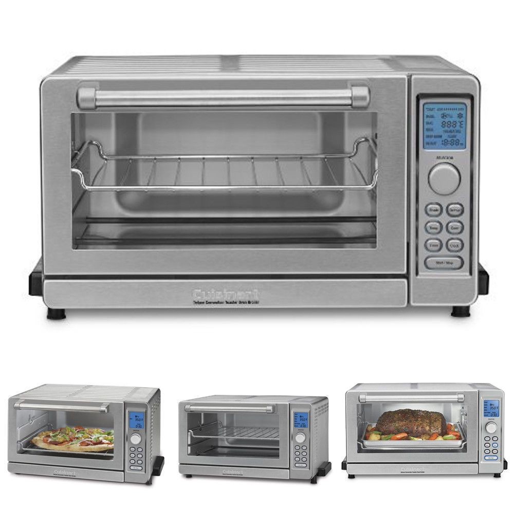 Deluxe Convection Toaster Oven Broiler Stainless Steel Recipe Book Refurbished Cuisinart Convection Toaster Oven Toaster Oven Toaster