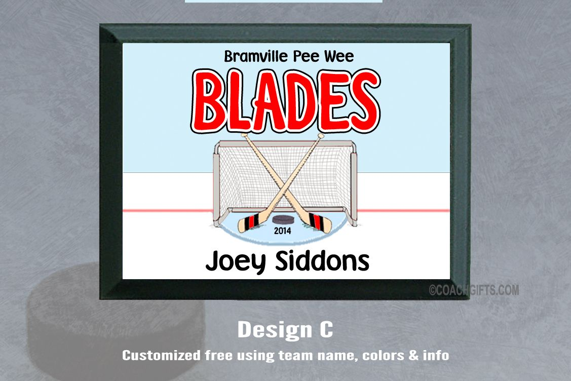 Coach Gifts  - Personalized Ice Hockey Plaques