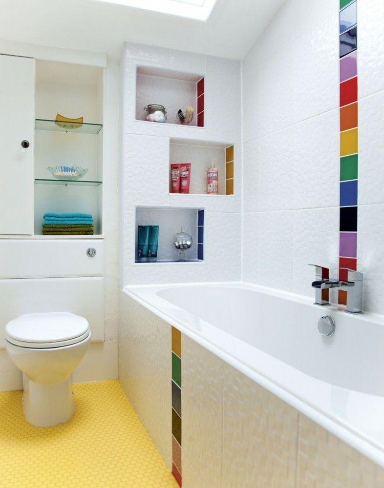 Couleur salle de bain en 55 idées de carrelage et décoration   Salle ...
