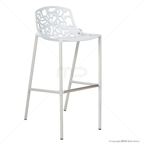 set of 2  forest bar stool  white  milan direct  bar