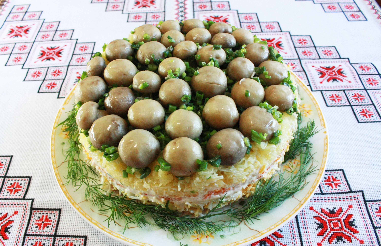 салат полянка салат рецепт с фото с