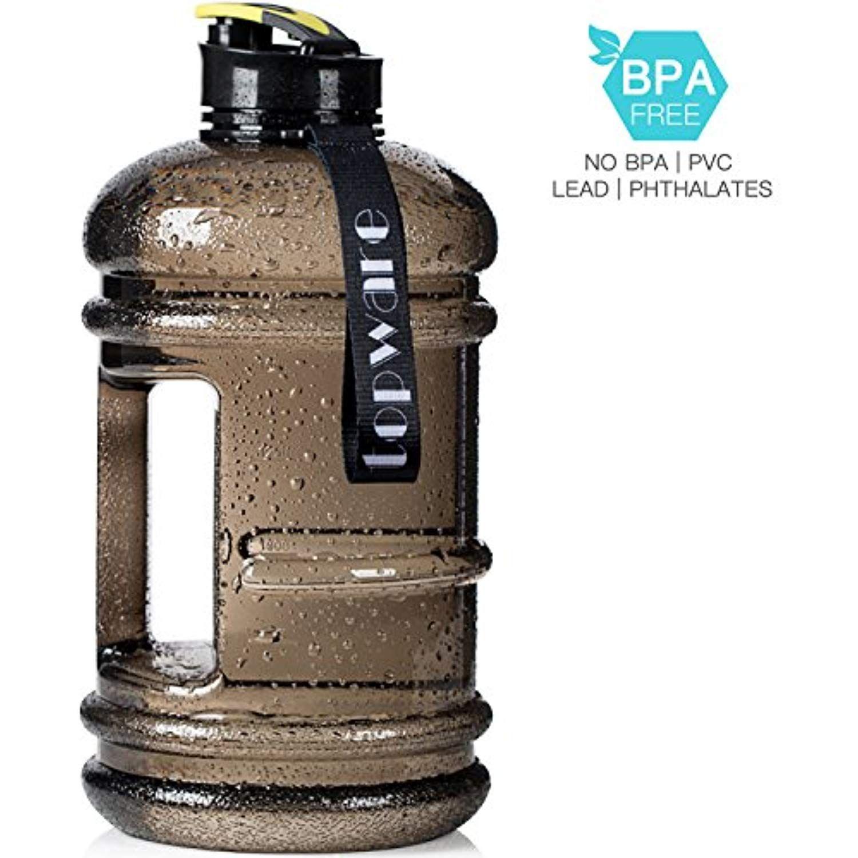 Huge Capacity Sports Bottle BPA Free 2.2L//75oz Water Jug Leak-proof Hiking
