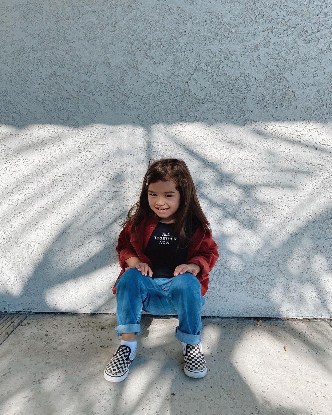 little girls checkered vans
