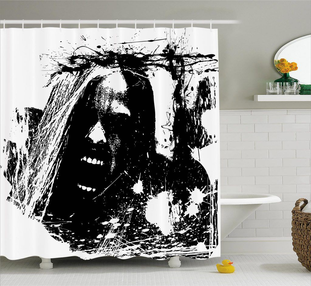 Horror Movie Shower Curtain By Ambesonne Ambesonne