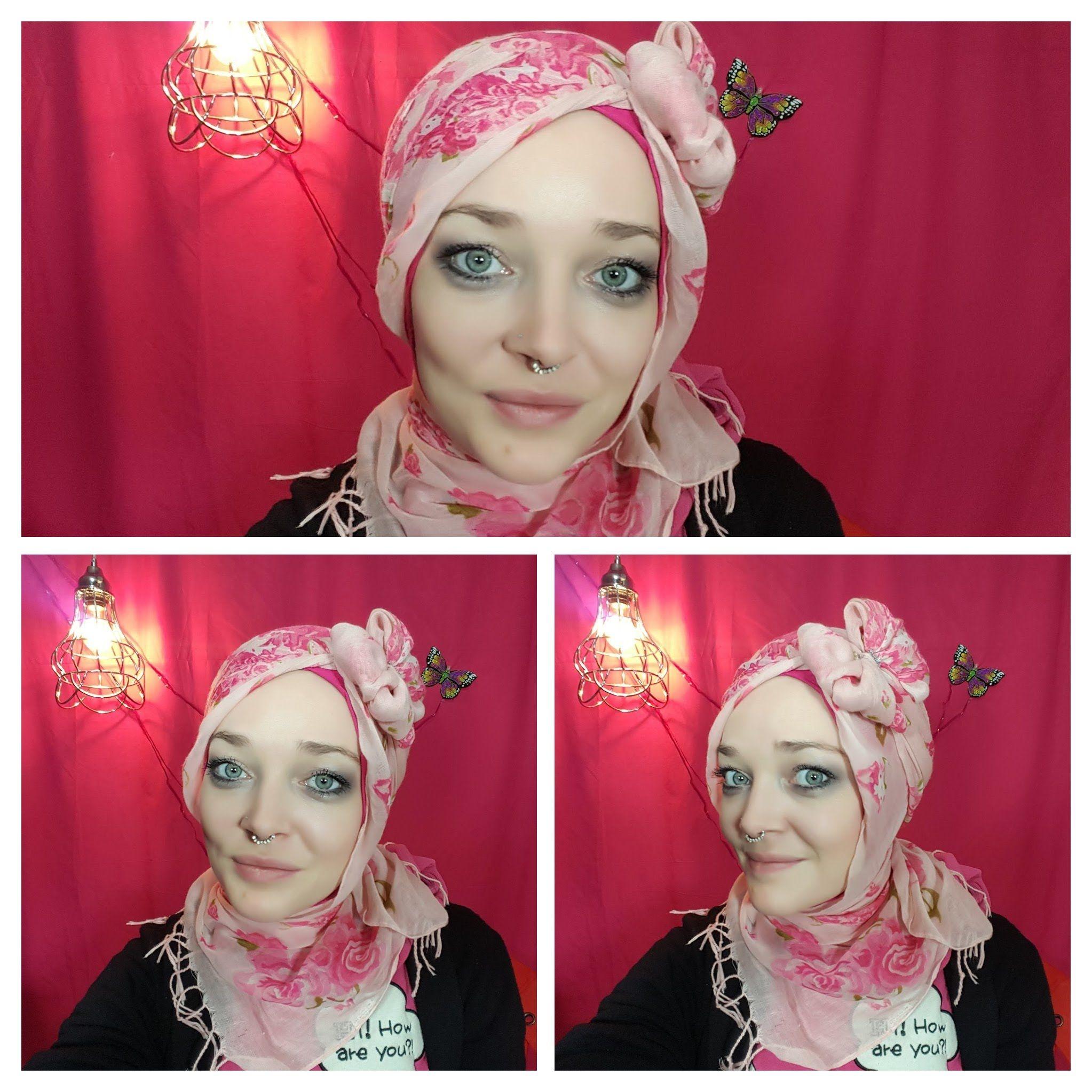 Hello Kitty turban hijab style with a bow tutorial  Turban hijab