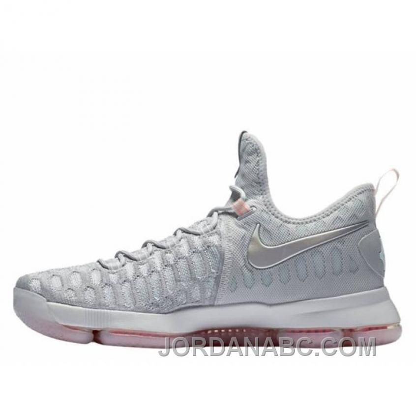 Kevin Durant Nike KD 9 Pre-Heat Zero Gray Basketball Shoes Lastest ...