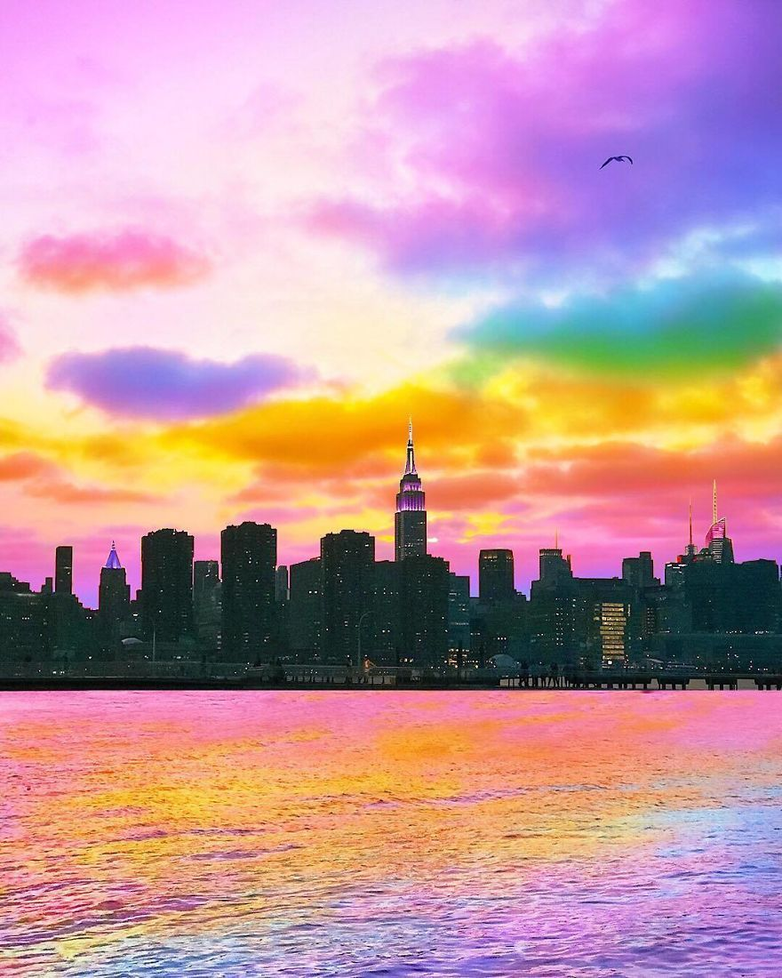 New York Artist Covers Everything In Rainbow Colors Gets Amazing