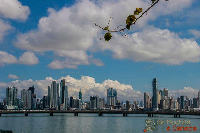 Visão da parte moderna da cidade do Panamá.
