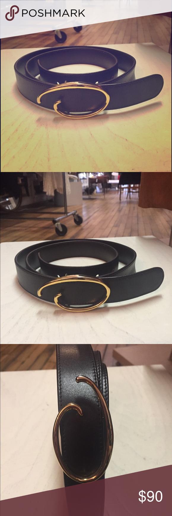 Oscar de la Renta leather belt Dark brown leather belt Made In Italy Oscar de la Renta Accessories Belts