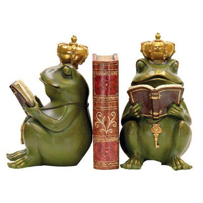 Have to have it. Pair of Noblest Frog Bookends $46.00
